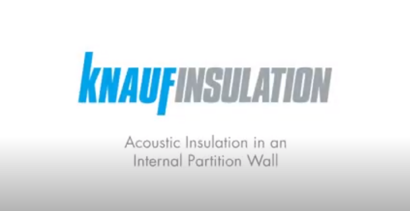 Acoustic insulation in an internal partition wall