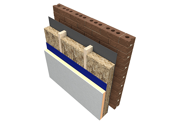 Knauf Insulation Built Up Timber Frame Wall insulation Glass Mineral Wool