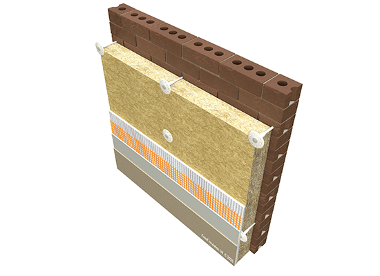 Knauf Insulation EWI Rock Mineral Wool and Blown insulation