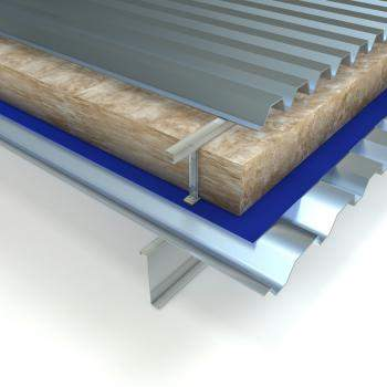 Glass Mineral Wool - Built-up Metal Roofs - Factoryclad Roll