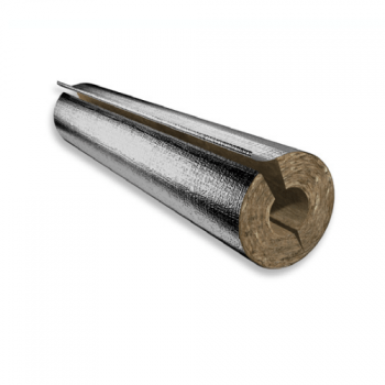 Rock Mineral Wool - HVAC - Pipe Section With Facing